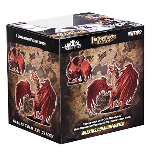 WizKids Pathfinder Battles: Deep Cuts Unpainted Miniatures: Gargantuan Red Dragon