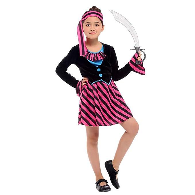 LXUA Chica del Traje de Halloween Falda Pirata for niñas Mascarada ...