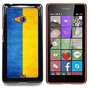 "Qstar Arte & diseño plástico duro Fundas Cover Cubre Hard Case Cover para Nokia Lumia 540 (Bandera nacional de la Serie-Ucrania"")"