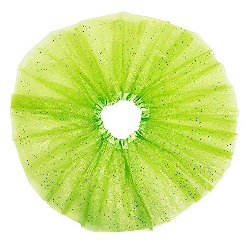[Girls Party Tutus Dance Tutu Costumes Princess Ballet Tutu (Green)] (Dancing With The Stars Costumes Designs)