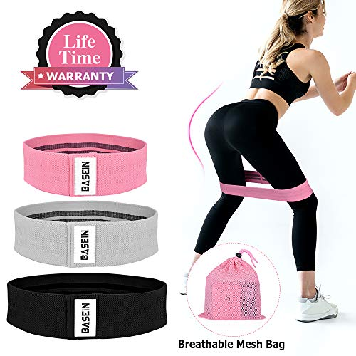 Fabric Booty Bands – Resistance Exercise Bands for Legs and Butt, Hip Bands Booty Bands Wide Workout Bands Resistance Loop Bands Perfect Glute, Core, Anti Slip Circle Fitness Bands 3 Pack Set