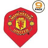 Art Attack 9 Pack Manchester United Soccer Football Premier League 75 Micron Strong Dart Flights