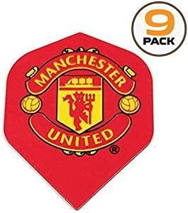 Art Attack 9 Pack Manchester United Soccer Football Premier League 75 Micron Strong Dart Flights
