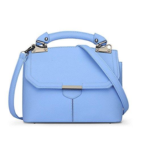 Eysee - Bolso de asas de poliuretano para mujer azul