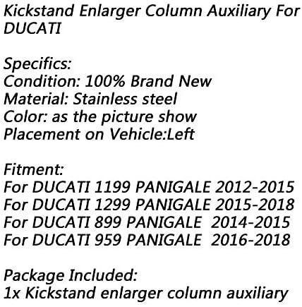 Merssavo 1x Universal Schwarz CNC Motorrad St/änder Seitenst/änder Verstellbare Beinst/ütze