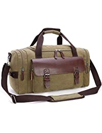 Canvas Duffel Bag, Cambond Weekender Overnight Bag Travel Tote Luggage Bag Gym Sports Holiday Carryon Bag for Men and Women