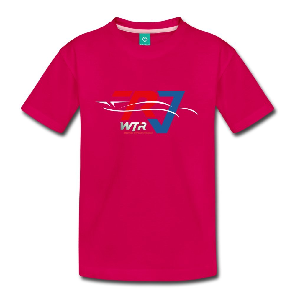 ATHLETE ORIGINALS Little Boys' Premium T-Shirt Wtr Racing Profile by Ricky & Jordan Taylor Youth L Dark Pink