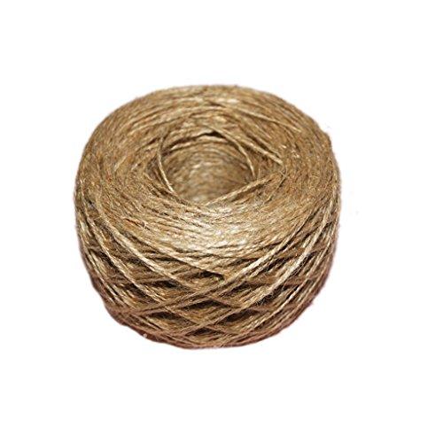 Rustikal 100 Meter - 109 Yards 100% Naturhanf Hanfseil Hanf-Seil Durchmesser 1 mm 1-Ply Jute Tau Seil für Shabby Chic Hochzeit Karten,Geschenkverpackung Dekor, Floristik, DIY Fertigkeit