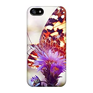 High Quality CheapCases Colorful Butterfly Skin Case Cover Specially Designed For Iphone - 5/5s