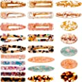 25 Pieces Acrylic Resin Hair Clips Alligator Hair Barrettes Pins For Women Girls Geometric Rectangle Oval Hairpins Headwear Barrette Styling Tools Hair Accessories