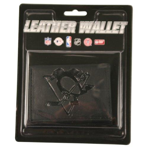 Nhl Tri Fold Wallet - NHL Leather Wallet Tri-fold - Pittsburgh Penguins - Black
