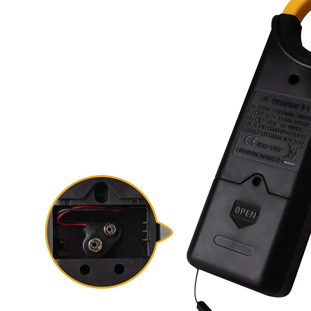 XIAOF-FEN Multifunctional AC//DC Volt Measure Multimeter LCD Digital Clamp Meter Tester Current Ohm Diode Instrument Tool Portable High Precision