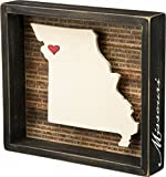 Missouri State Shape Box Sign Primitives by Kathy