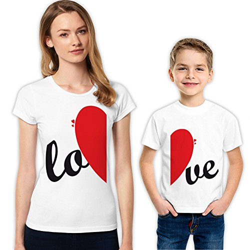 Lo-Ve Mother and Son Matching Family Shirts Set 204 XS 4-5 yrs