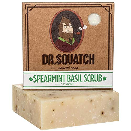 Natural Bar Soap - Spearmint Basil - Minty Fresh Soap for Men with a Naturally Clean Rinse - Handmade in USA