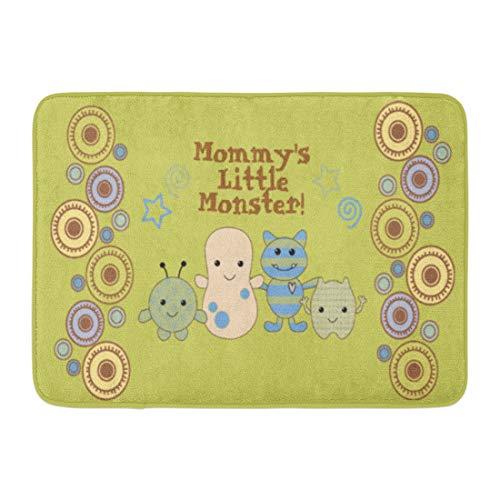 (Allenava Bath Mat Cocalo Little Monsters Nursery Peek Boo Baby Peeking Bathroom Decor Rug 16