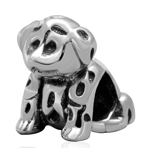 (Choruslove Dog Charm 925 Sterling Silver Beads fit European Bracelet Dog Animal Lover (Scottie Dog Charm))