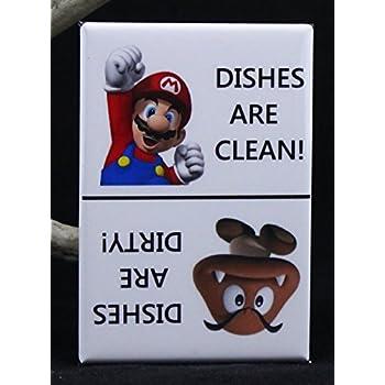 Clean / Dirty Super Mario Dishwasher Magnet.