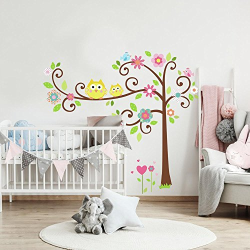RoomMates Happi Scroll Tree Peel and Stick Wall Decal Megapack ()