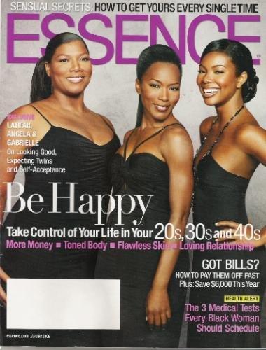 Essence Magazine January 2006: Latifah, Angela & Gabrielle;Be Happy