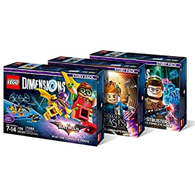 Lego Dimensions Story Pack Bundle: LEGO Batman Movie Story Pack (71264), Fantastic Beasts Story Pack (71253), Ghostbusters Story Pack (71242): Video Games