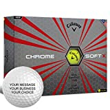 Callaway Chrome Soft X Personalized Golf Balls - Add Your Own Text (12 Dozen) - Yellow