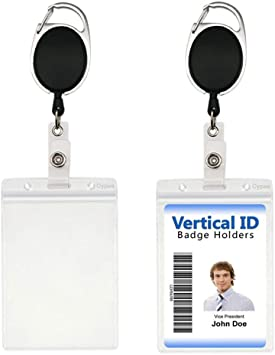 Name Card Stationery Anti-Lost Clip Badge Holder Lanyards Retractable Key Ring