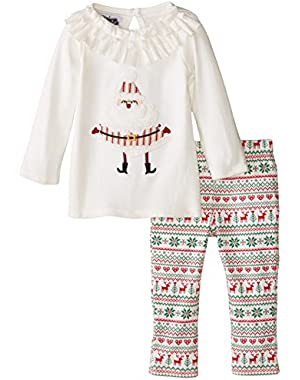 Baby-Girls Newborn Santa Tunic and Legging