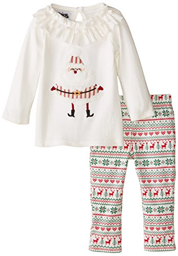 Mud Pie Baby-Girls Newborn Santa Tunic and Legging