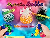 2'' Mesh Balls Squeezable Vending Toys in 250 Capsules - With Free DISPLAY