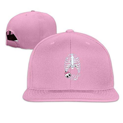 Runy Custom Baby Girl Skeleton Pregnant Adjustable Baseball Hat & Cap Pink