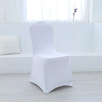 Cool Amazon Com Zdada Spandex Chair Covers White For Dining Room Machost Co Dining Chair Design Ideas Machostcouk