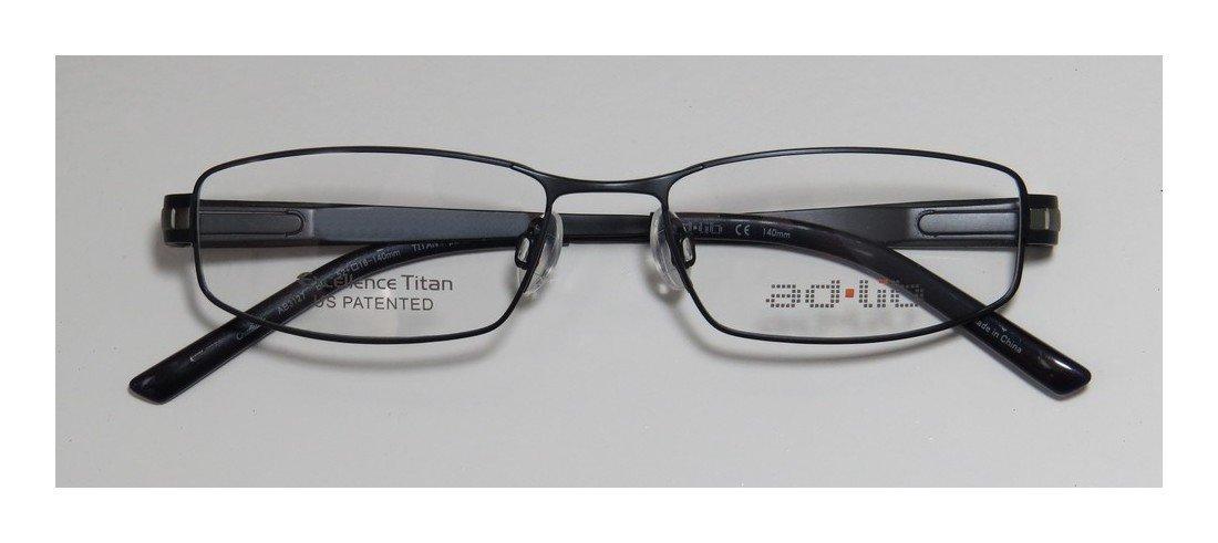 Ad.lib 3127 Mens/Womens Cat Eye Full-rim Titanium Eyeglasses/Eyeglass Frame (52-16-140, Dark Blue / Gray)