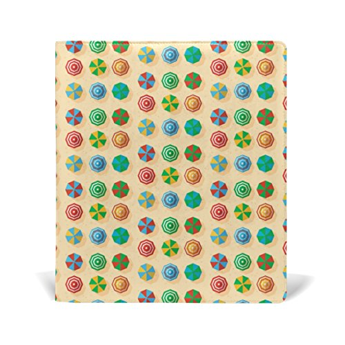 Sox Umbrella (LORVIES Colored Beach Sun Umbrellas Pattern Book Sox Stretchable Book Cover, Fits Most Hardcover Textbooks up to 9 x 11. Adhesive-Free, Pu Leather School Book Protector)