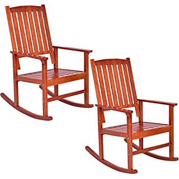 Amazon Com Mainstays Outdoor Rocking Chair Brown
