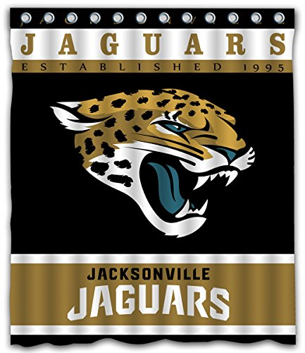 - Sonaby Custom Jacksonville Jaguars Waterproof Fabric shower curtain For Bathroom Decoration (60x72 Inches)