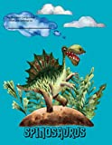 Spinosaurus Dinosaur Compostion Notebook: Wide Ruled Writing Journal for Elementary School Students