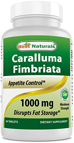 Best Naturals Caralluma Fimbriata Appetite Suppressant and Weight Loss Diet Supplement, 1000mg (60 Tablets)