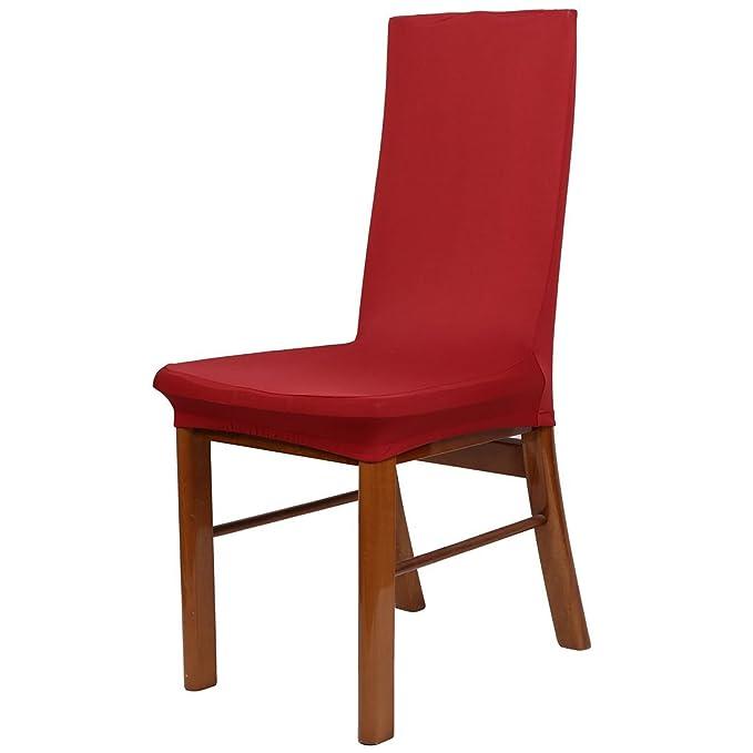 Amazon.com: eDealMax Spandex estiramiento extraíble Comedor heces Silla de cubierta de asiento de fundas 3 piezas Rojo: Home & Kitchen