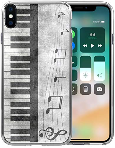 (Xs Max Case Music/IWONE Designer Rubber Durable Protective Skin Transparent Cover Compatible with iPhone Xs Max [X Max] 2018 6.5 Inches Retro Musical Piano Music Note)