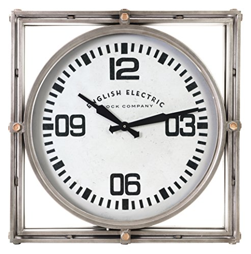 Kiera Grace Geoffrey Metal Wall Clock, Decorative, Industrial