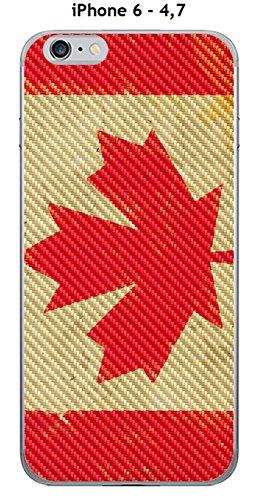 Cover Apple iPhone 6–4.7Design Bandiera Canada Vintage effetto carbonio