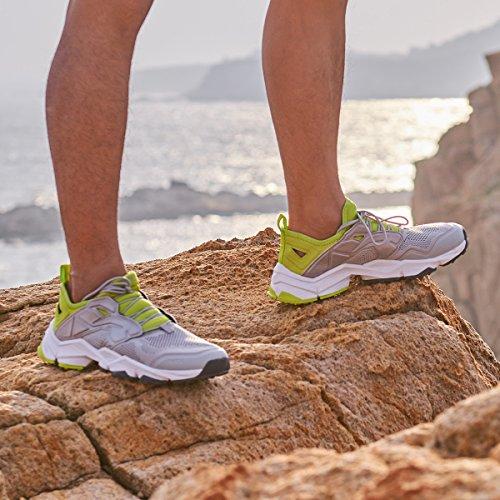 Rax Mens Summer Ventilator Escursionismo Scarpe Da Trekking Trail Trekking Sneakers Outdoor Grigio Chiaro