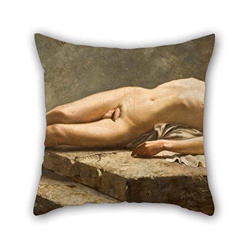 Amortiguador Cubiertas De Oil Painting Carlos Baca-Flor - Reclining Nude Para Café Casa Club Salón Silla Sofá Niños Sala...