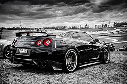 Marvelous Tomorrow Sunny C287 Nissan Black GTR Side View Auto Poster Art Wall  Pictures For Living Room
