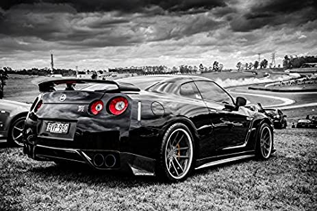 Tomorrow Sunny C287 Nissan Black GTR Side View Auto Poster Art Wall  Pictures For Living Room Great Ideas