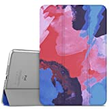 """MoKo iPad Mini 4 Case - Slim Lightweight Shell Stand Cover with Translucent Frosted Back Protector for iPad Mini 4 7.9"""" 2015 Release Tablet, Ink Painting (with Auto Wake / Sleep)"""