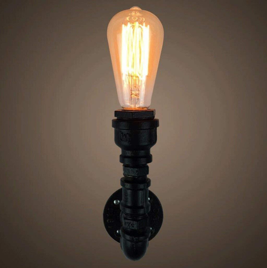 Ferro Da Stiro Lampada Da Parete Bar Negozio Di Abbigliamento Ristorante Posto Letto Lampada Da Parete (colore   Nero-8.5  17Cm)
