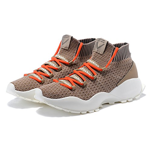 MANTOONE Herren Laufschuhe Mode Sport Mesh Soft Sohlen Leichte Casual Breathable Sneakers Orange-braun