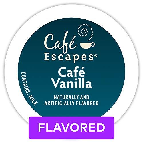 Café Escapes Café Vanilla, Single Serve Coffee K-Cup Pod, Flavored Coffee, 72